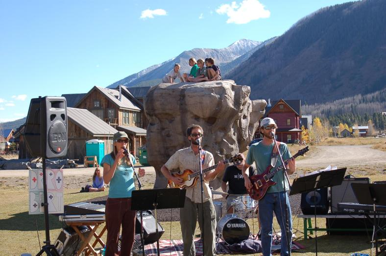 Our first official gig, DoctoberFest on 10/16/10 in Rainbow Park in Crested Butte.